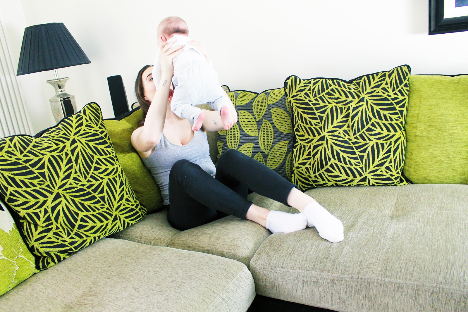 Young Mother With Newborn Struggles Post Natal Depression
