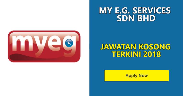 Jawatan Kosong di My E.G. Services Sdn Bhd
