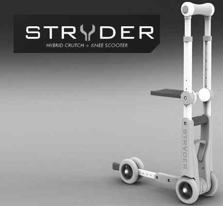 Projet STRYDER, une Béquille-Trottinette