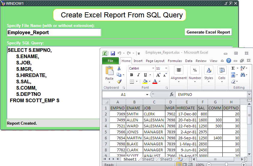 Freebie - Utility Form: Generate Excel Report From SQL Query