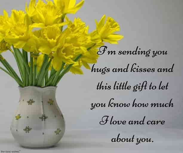 good morning text for her in a long distance relationship with flowers