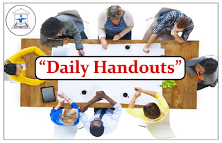 """DAILY HANDOUTS""- Morning Session"