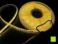 Erfahrungsbericht: LIHAO 5M LED Strip Warmweiß 600 SMDs Band wasserdicht Streifen mit Hohlbuchse+Netzteil DC 12V Trafo Set [Energieklasse A]