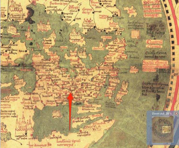 Regensburg Historisch 1448 Regensburg Auf Der Walsperger Weltkarte