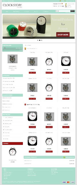 Free osCommerce 2.3.3 Template for Clock Store