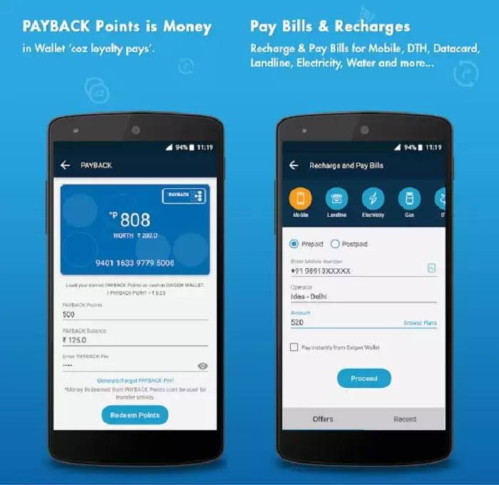 Oxygen - Bill Payment & Recharge, Wallet