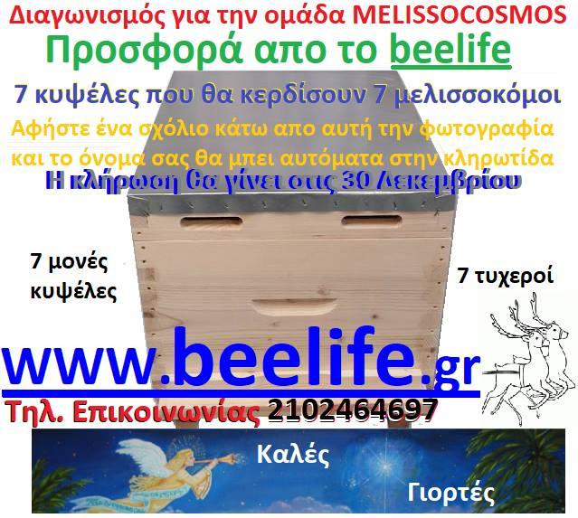 Βρέχει δωρα: 7 κυψέλες σε κλήρωση προσφορά απο το beelife.gr