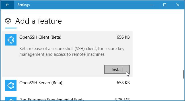 Come utilizzare il client SSH di Windows 10