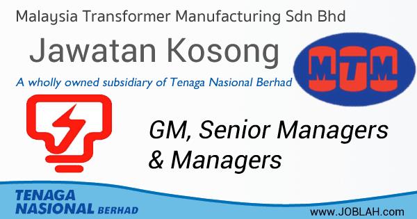 Jawatan Kosong 2017 Malaysia Transformer Manufacturing Sdn Bhd (MTM)