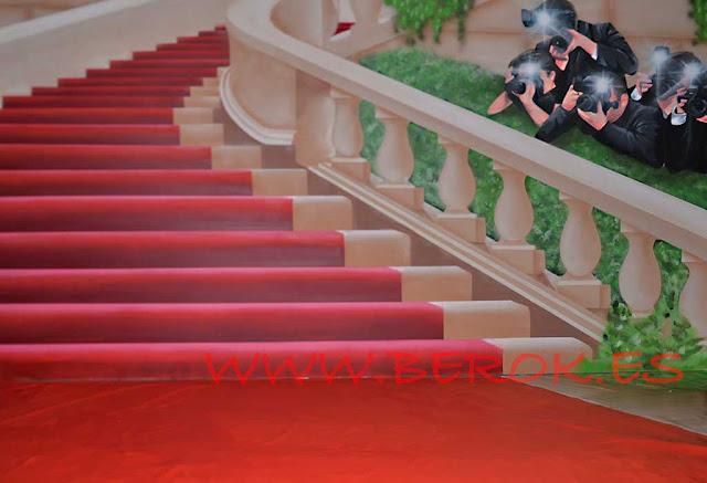 graffitis 3d escaleras con fotógrafos