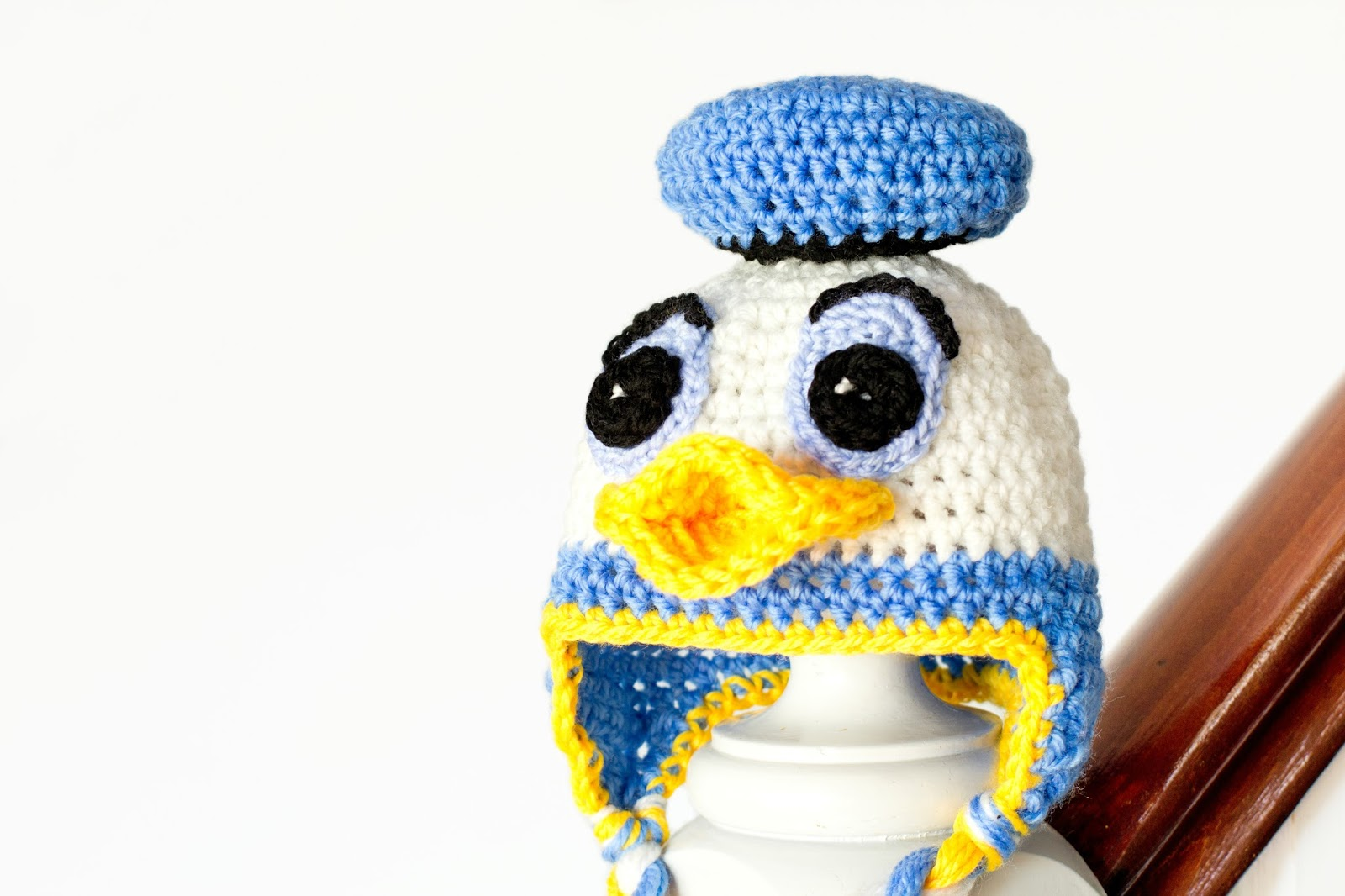 2c978a7136f Tina handicraft donald duck inspired baby hat crochet pattern jpg 1600x1066  Donold ducks hat