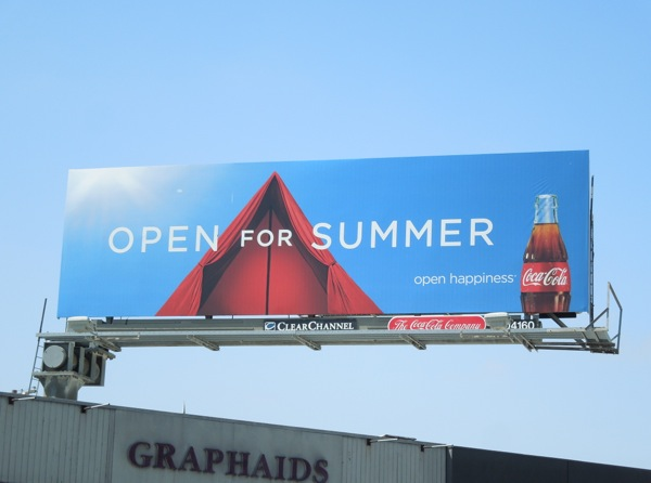 Coke Summer camping billboard