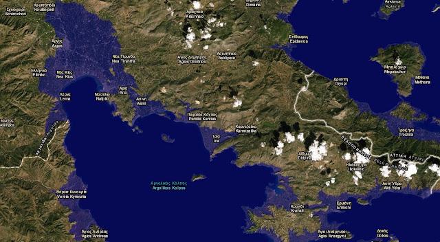 Εφαρμογή δείχνει ποιες πόλεις της Αργολίδας θα βυθίζονταν αν έλιωναν οι πάγοι (χάρτης)