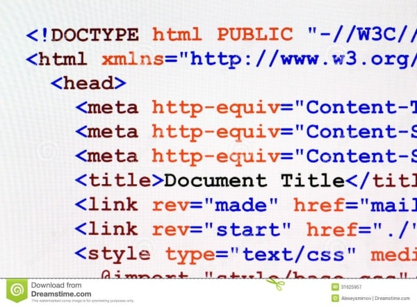 title of the HTML page code