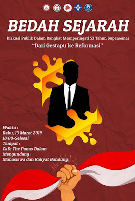 Bedah Sejarah Supersemar, BEM Telkom Bandung Gelar Diskusi Publik