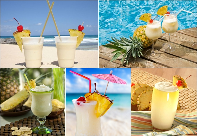 most beautiful pina colada cocktails