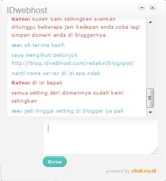 costomer service idwebhost