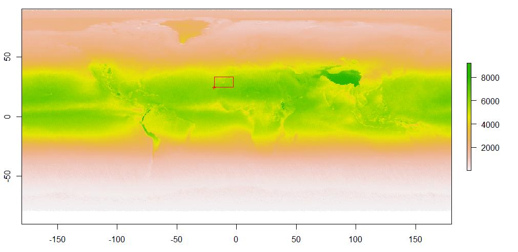 Benjamin Bell: Blog: Interpolating gridded datasets in R: UV