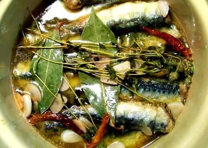 Sardines à l'escabèche façon sétoise