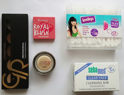 ipelina, makyaj düzeltme çubuğu, rimmel london allık, krem allık, cream blush, rimmel london royal blush, rimmel london cream blush, golden rose eyeshadow palette, eyeshadow palette, sebamed clear face soap, sivilce sabunu