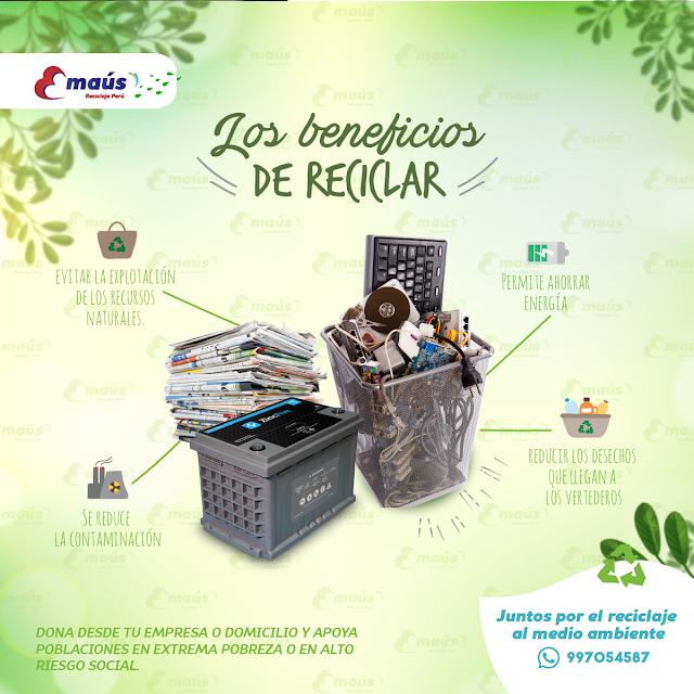 Los beneficios de Reciclar - Emaus Reciclaje Perú