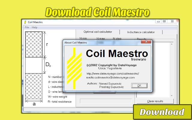 Download Coil Maestro - Inductance Calculator | Kalkulator / Info & Softwares Elektronika
