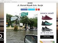 Hoax Jalan Slamet Riyadi Kota Solo Tergenang Banjir