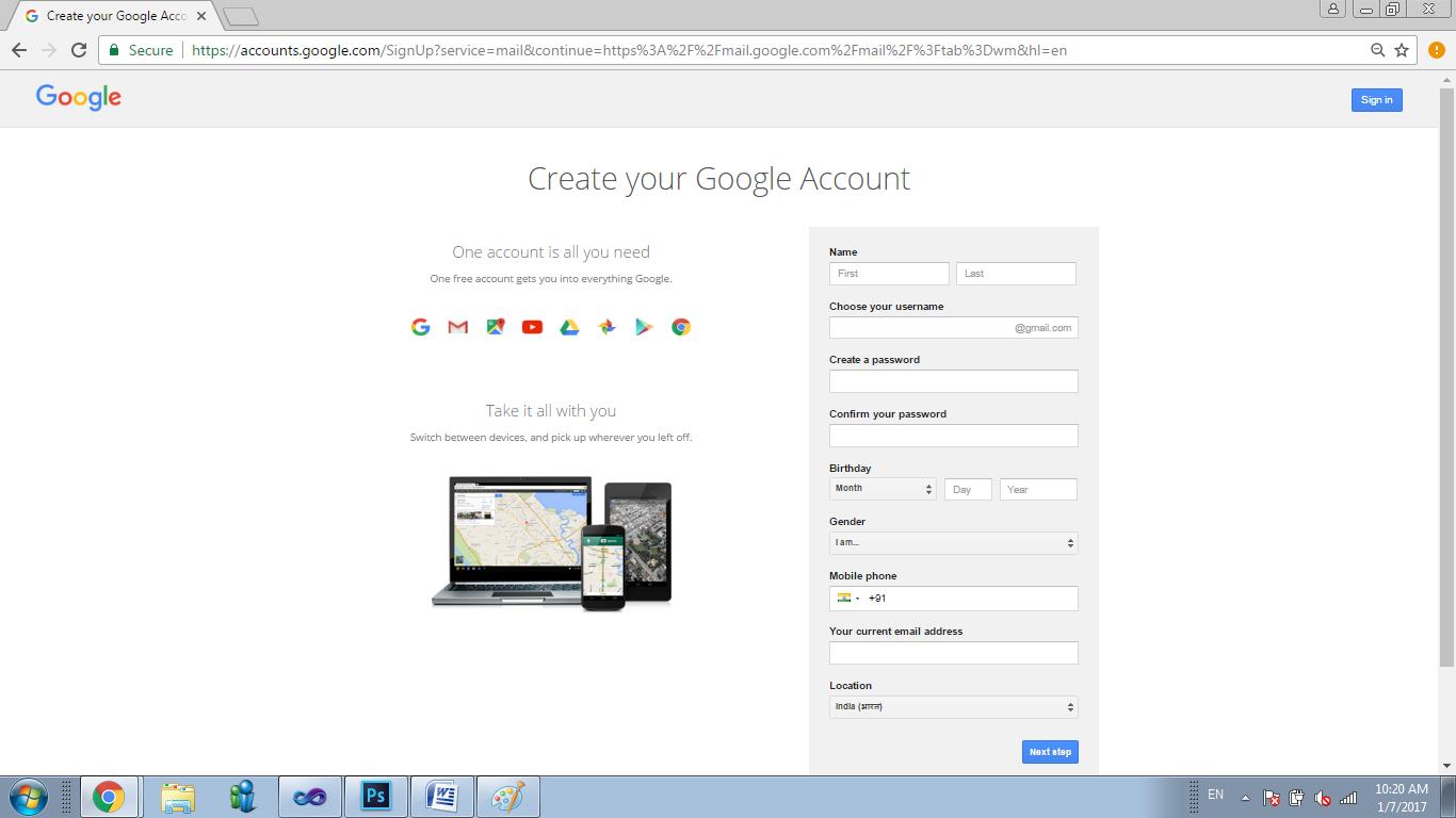 How to Create Gmail Account - photo#26