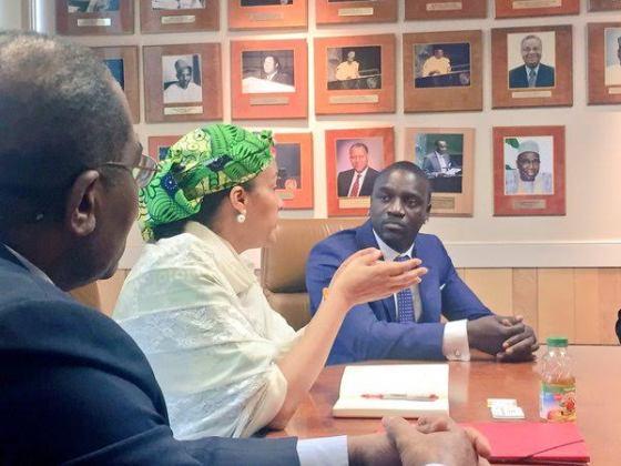 3 Photos: Akon visits Nigeria's Minister of Environment, Amina Mohammed in NY