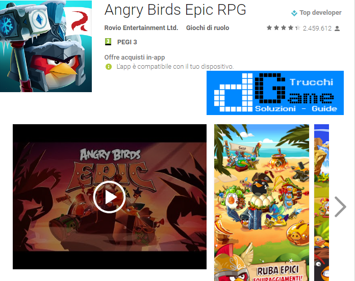 Trucchi Angry Birds Epic RPG Mod Apk Android v1.5.7