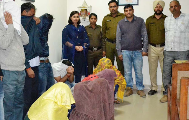 Sex racket under the guise of Massage Center, Faridabad Police