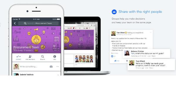 """فيسبوك تطلق شبكتها الاجتماعية الجديدة """"Workplace by Facebook"""""""