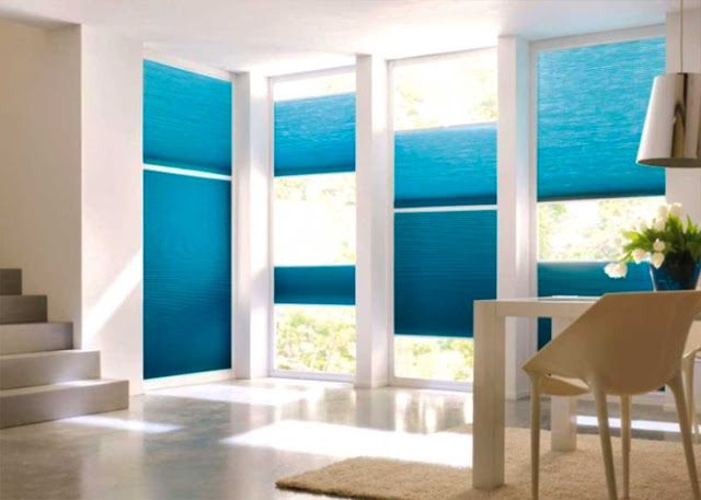 Fashionable curtain ideas For Balcony and Loggia in a modern style
