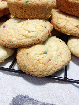 confetti cake batter cookies