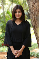 Actress Hebah Patel Stills in Black Mini Dress at Angel Movie Teaser Launch  0145.JPG