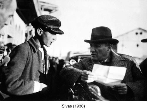 Atatürk Sivas 1930 Fotoğraf