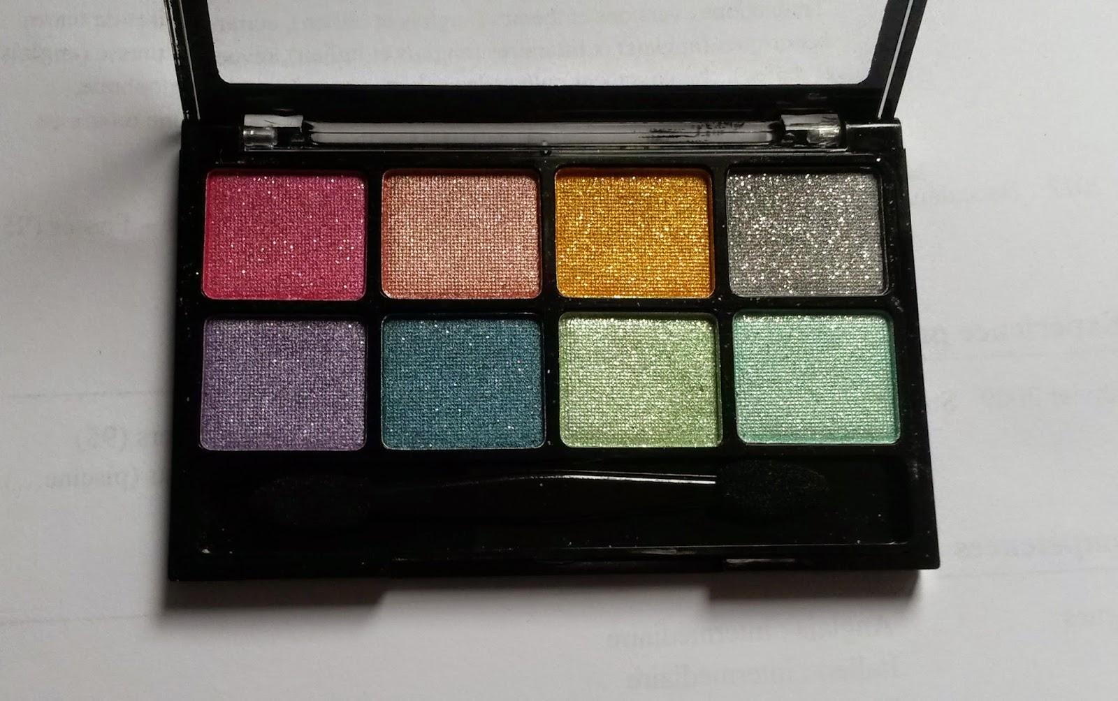 bys maquillage Ombres à paupières 8 couleurs - Teintes Cancun holidays palette