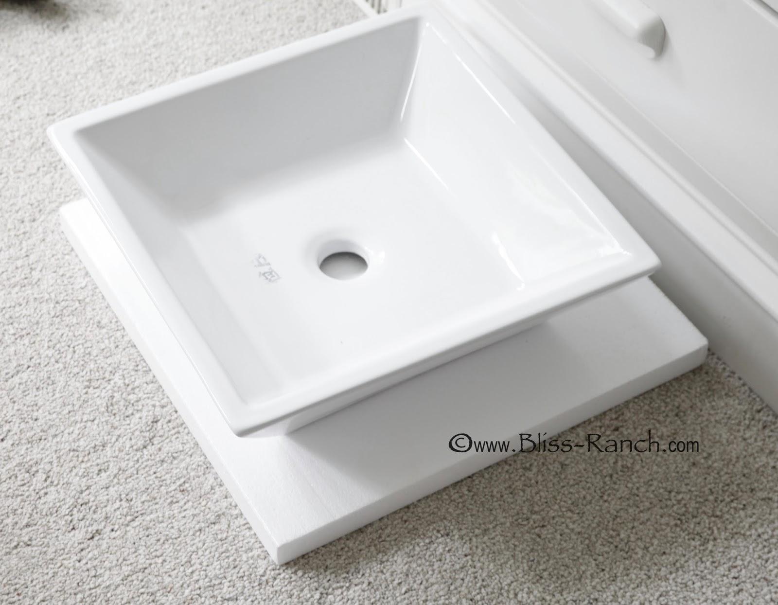 Poured Concrete Counter Vessel Sink Bliss-Ranch.com