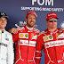 Vettel e Raikkonen encerram jejum da Ferrari e vão largar na primeira fila no GP da Rússia