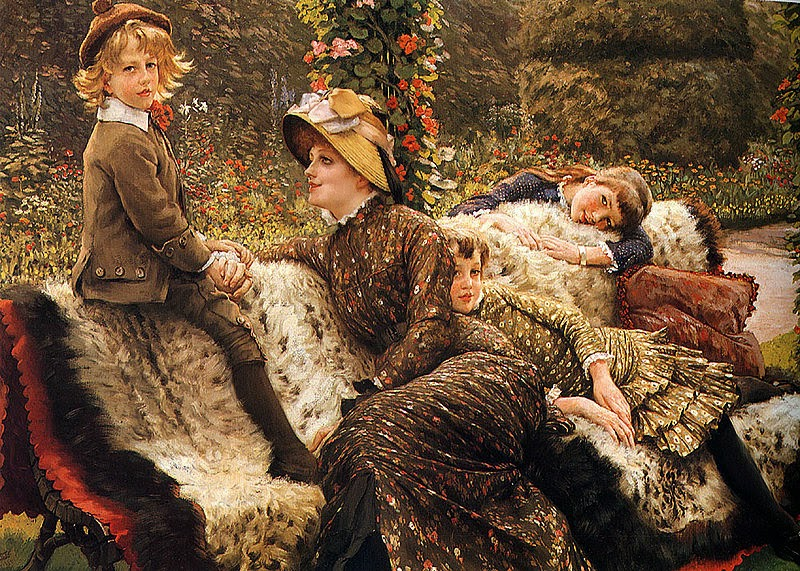 O Banco no Jardim - As principais pinturas de James Tissot ~ Francês