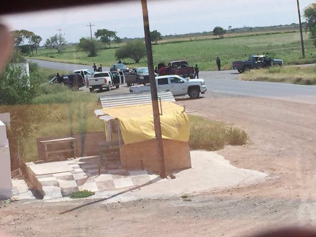 """3 VIDEOS: En caravana circulan sicarios del CDG y se dan """"topon"""" con grupos rivales en Valle Hermoso, Tamaulipas"""