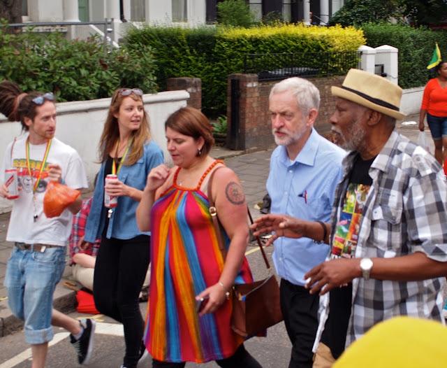 Jeremy Corbyn visits Notting Hill Carnival, 29 August 2015  Photo: Bill Hicks