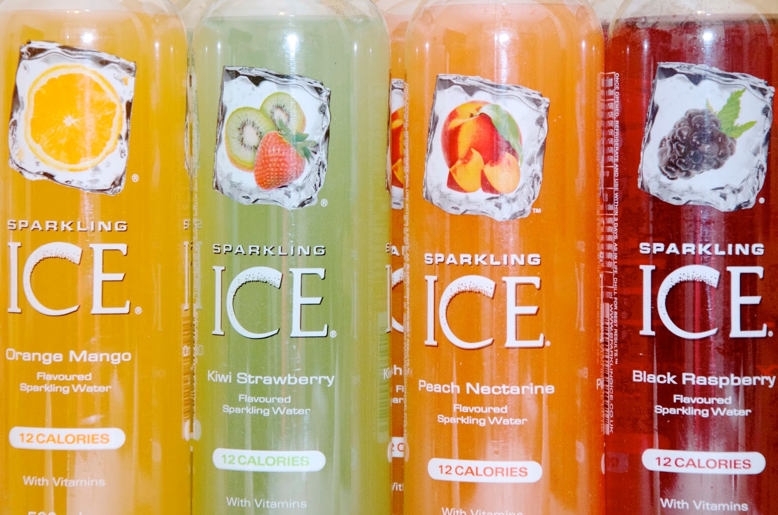 Sparkling Ice Flavors Orange/Mango, Kiwi/Strawberry, Peach/Nectarine & Black Raspberry
