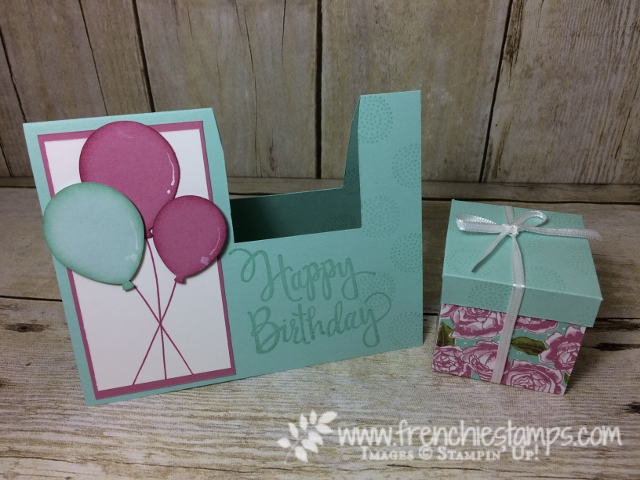 Gift Box in a card,  Happy Birthday Stylized, Balloon Celebration, Balloon Bouquet Punch, Stampin'Up!