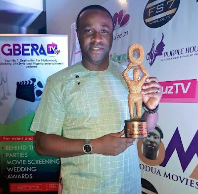 Actor Femi Adebayo Salami Emerges Best Actor Of the Year At OMAMA 2017 Award