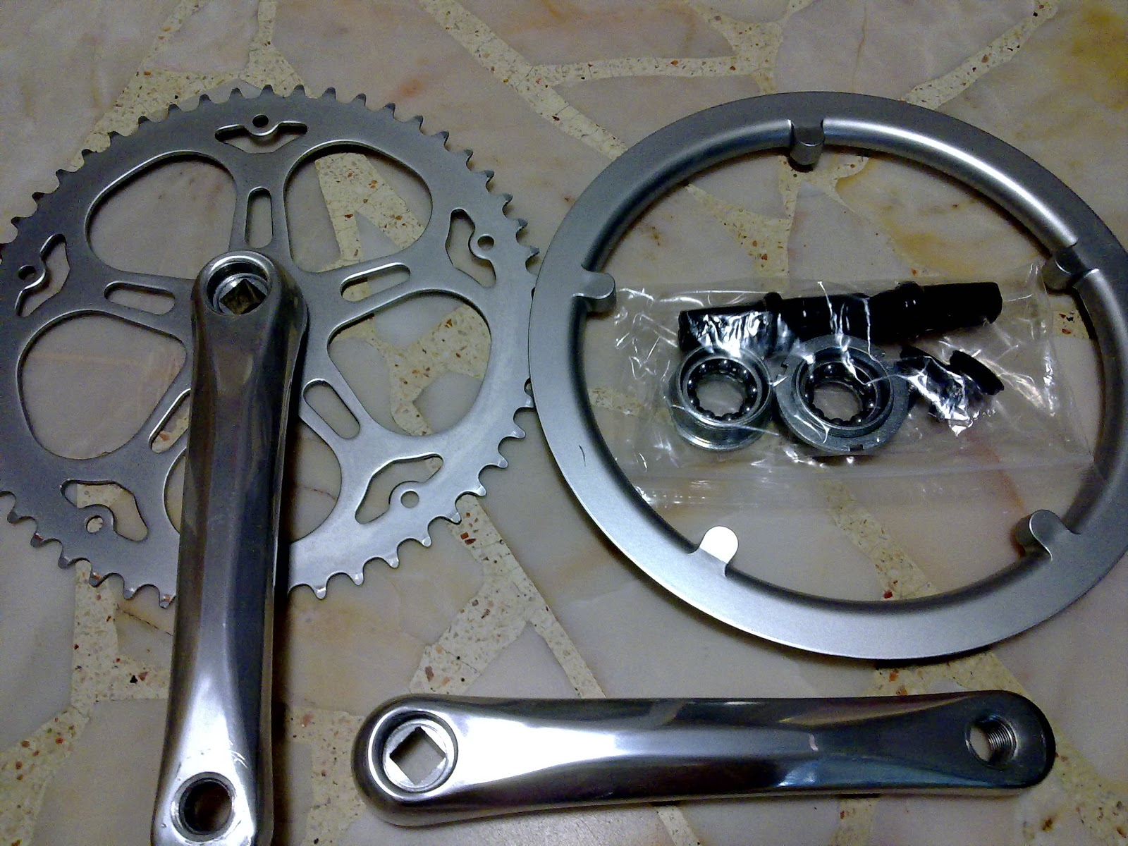 super light Dahon Tern 130 mm bolt Litepro Chainring WITH chainguard integrated
