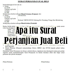 Pengertian Surat Perjanjian Jual Beli