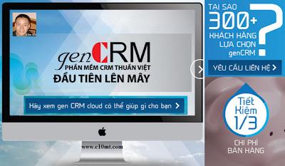 Phần mềm CRM quản trị quan hệ khách hàng thuần việt GenCRM