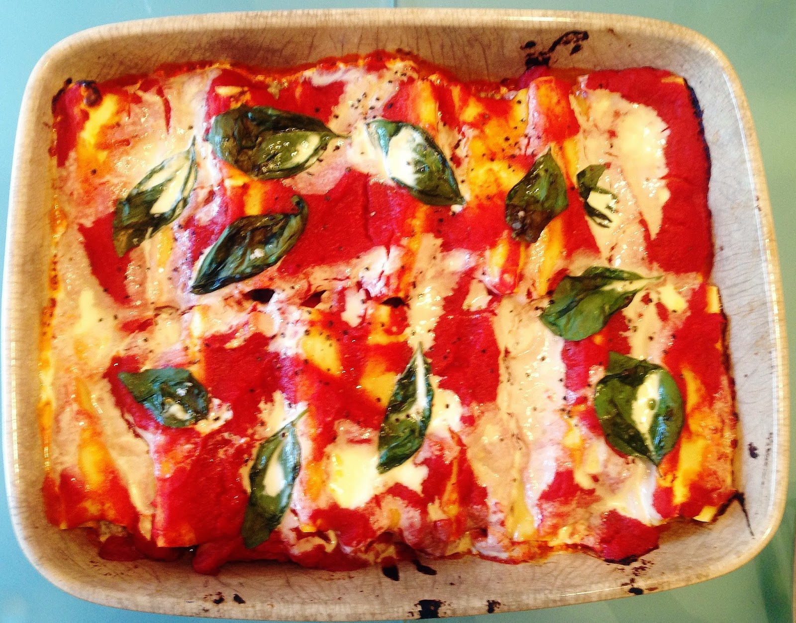 Cannelloni with Beef, Spinach & Ricotta