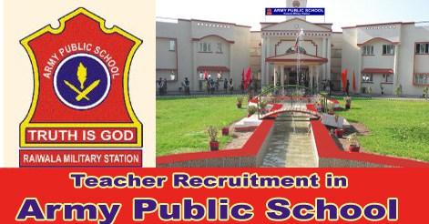 Army Public School Recruitment 2018    Apply Online for 8000 PGT/ TGT/ PRT Post